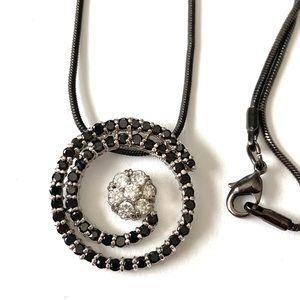 Gunmetal dainty necklace